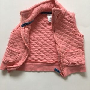4/$25 Carters Pink Zip Up Vest Sz 6M Pink